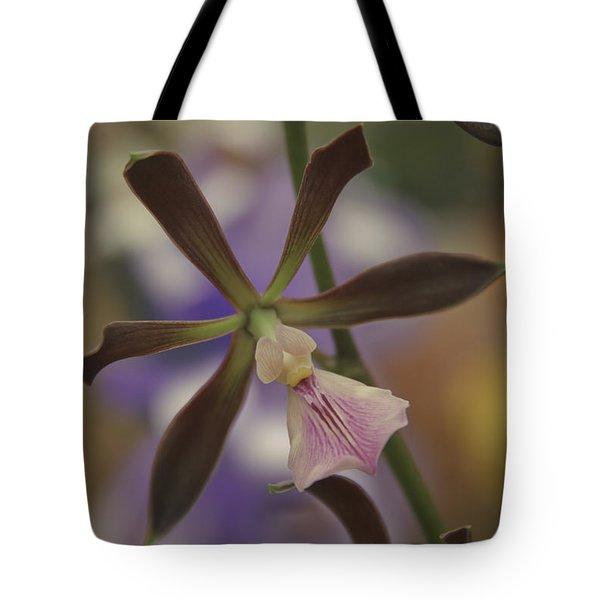 He Pua Ke Aloha - The Flower Of Love - Orchidea Tropicale Tote Bag by Sharon Mau