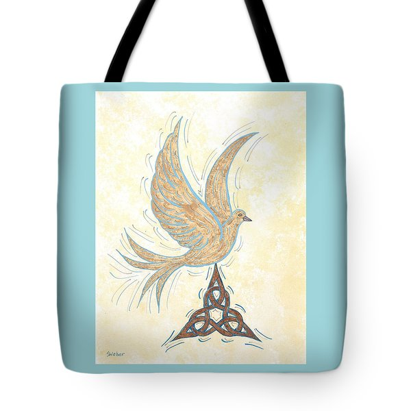 He Set Us Free Tote Bag by Susie WEBER