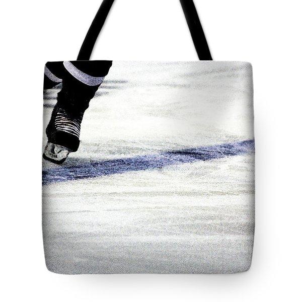 He Skates Tote Bag by Karol Livote
