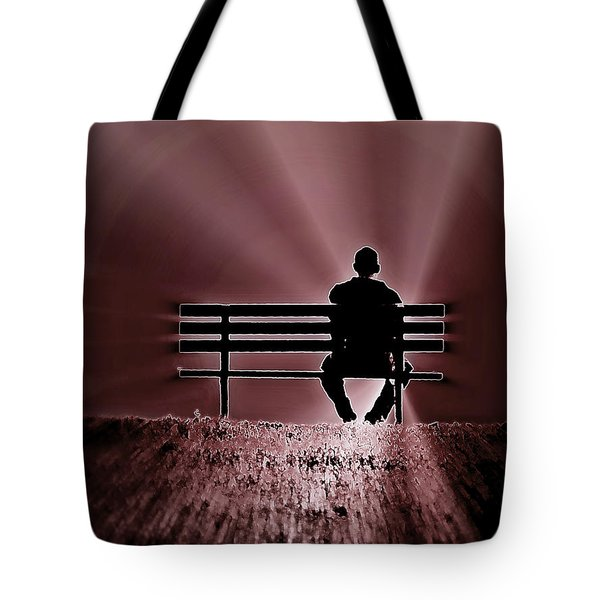 He Spoke Light Into The Darkness Tote Bag by Micki Findlay