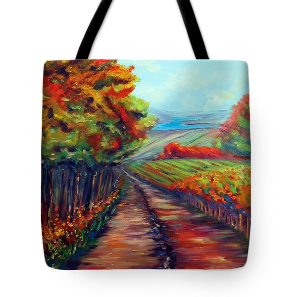 Tote Bag featuring the painting He Walks With Me by Meaghan Troup
