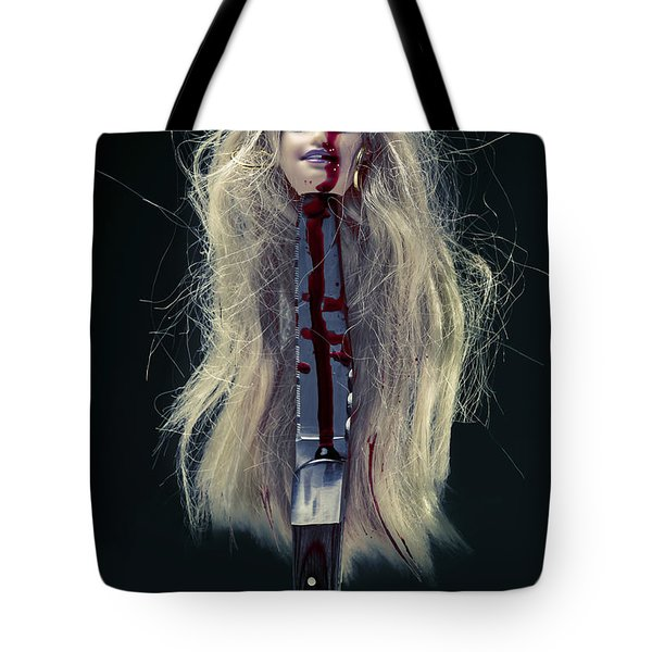 Head And Knife Tote Bag by Joana Kruse