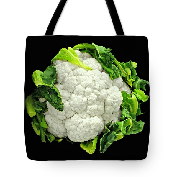 Head Of Cauliflower Tote Bag by Diana Angstadt