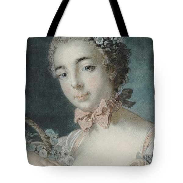 Head Of Flora Tote Bag by Francois Boucher