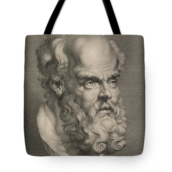 Head Of Socrates Tote Bag
