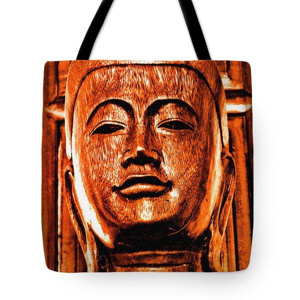 Head Of The Buddha Tote Bag