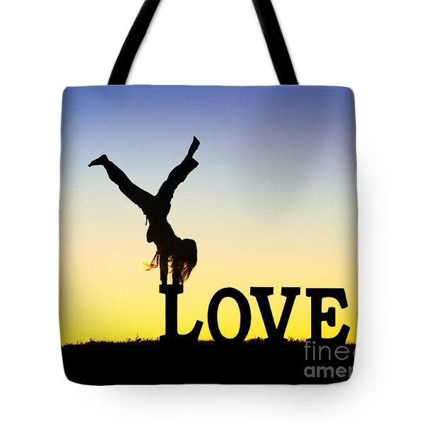 Head Over Heels In Love Tote Bag