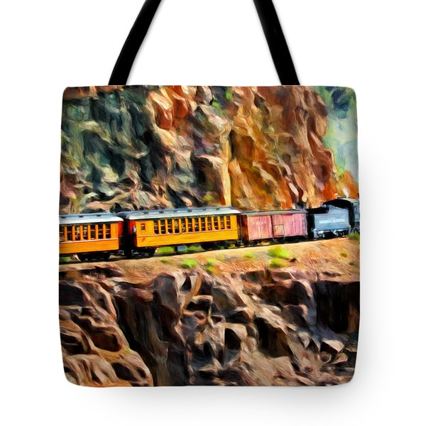 Headed Up The Grade Tote Bag