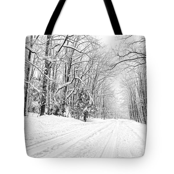 Heading For Davis West Virginia After Snow Storm Tote Bag by Dan Friend