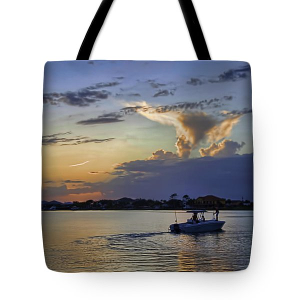 Heading For Harbor Tote Bag by Tim Stanley