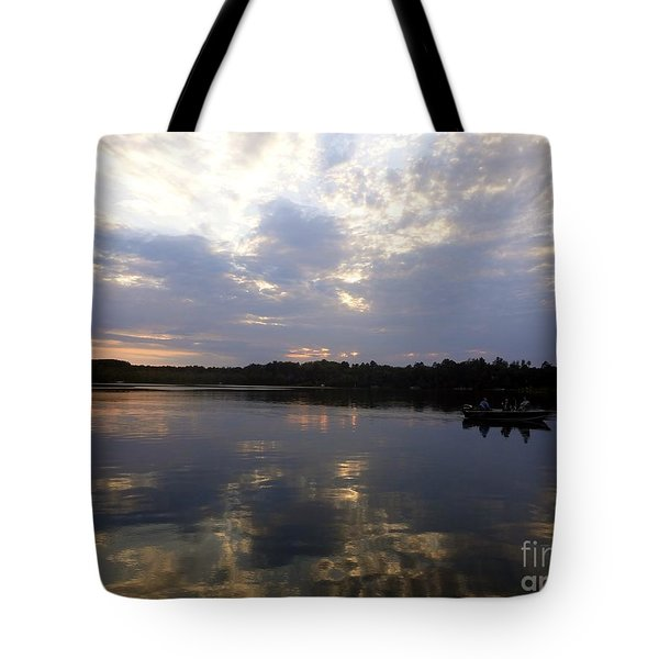 Tote Bag featuring the photograph Heading Home On Lake Roosevelt In Outing Minnesota by Jacqueline Athmann