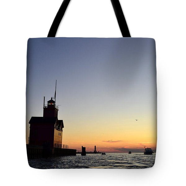 Heading Out Tote Bag by Michelle Calkins