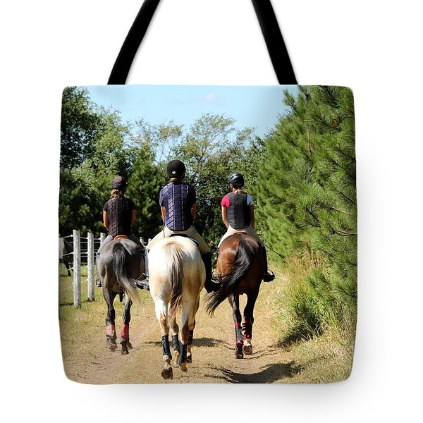 Heading To The Cross Country Course Tote Bag