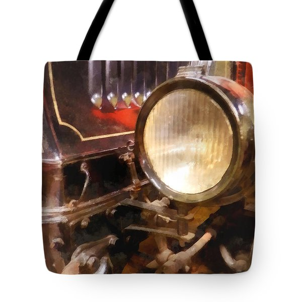 Headlight From 1917 Truck Tote Bag by Susan Savad