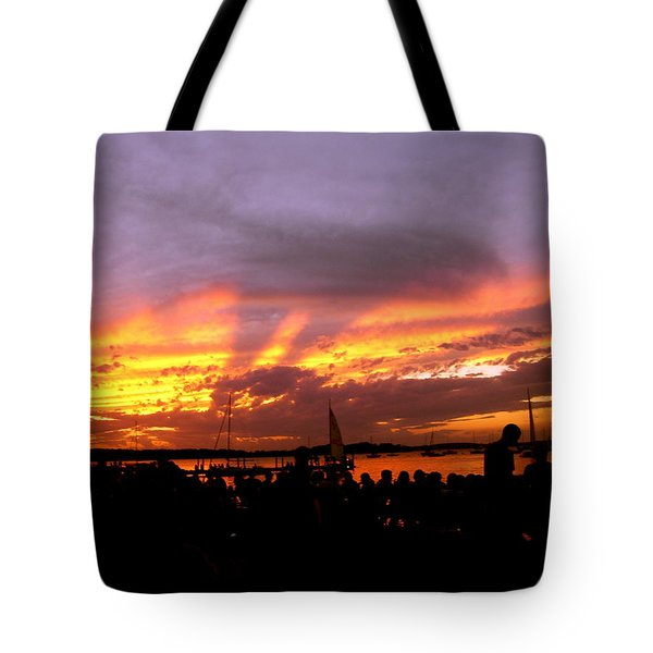 Headlights Of Sunset Tote Bag