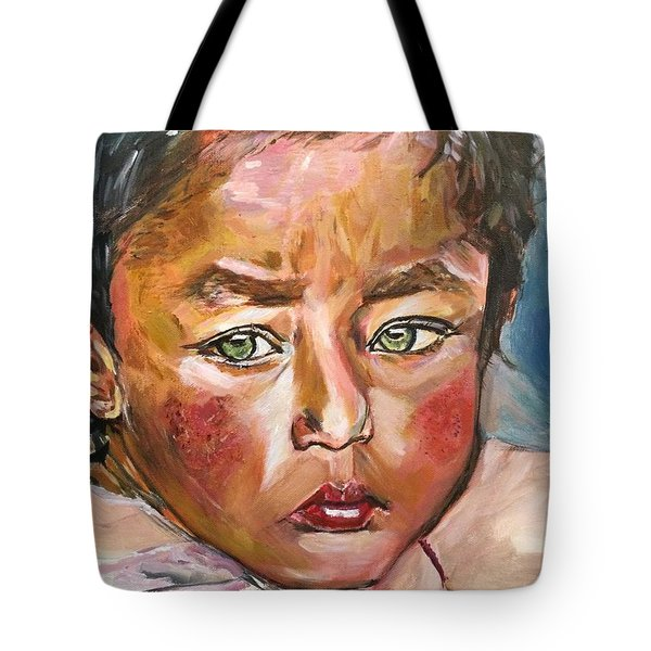 Tote Bag featuring the painting Heal The World by Belinda Low