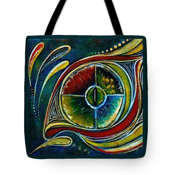 Tote Bag featuring the painting Healer Spirit Eye by Deborha Kerr