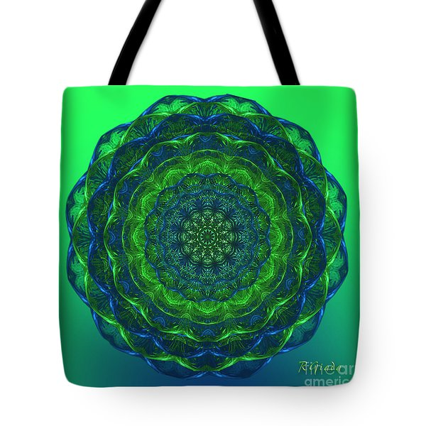 Tote Bag featuring the digital art Healing Mandala - Spiritual Art By Giada Rossi by Giada Rossi