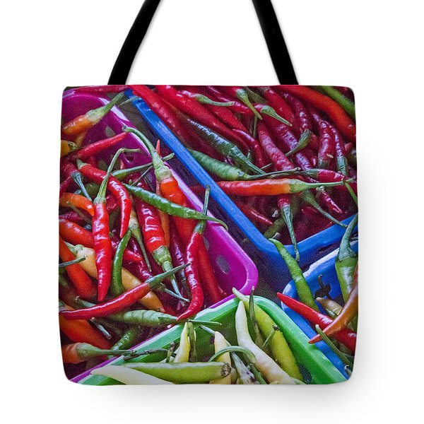 Healthy Chili Peppers Tote Bag