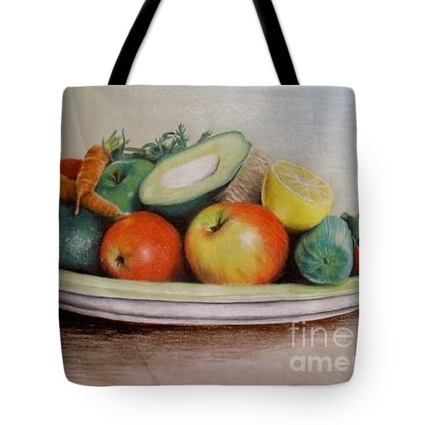 Healthy Plate Tote Bag by Katharina Filus