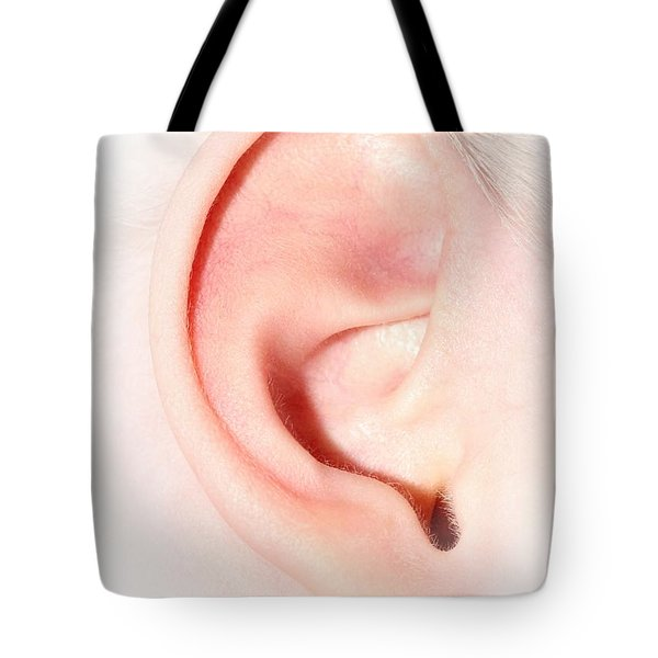 Tote Bag featuring the photograph Hearing Ear Of Child by Tracie Kaska