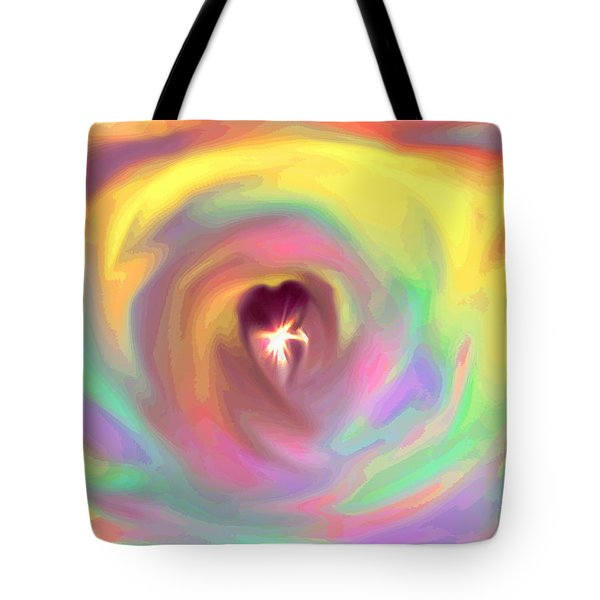 Heart Abstract Tote Bag by Marianna Mills