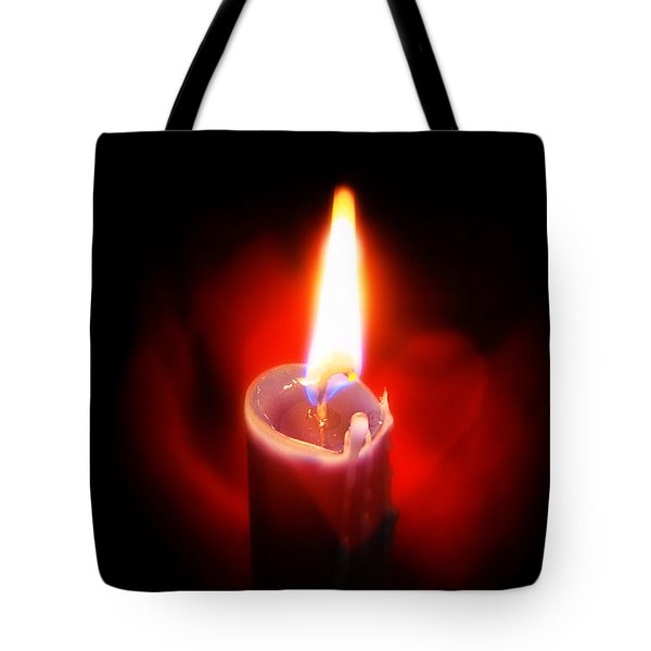Heart Aflame Tote Bag by Sennie Pierson