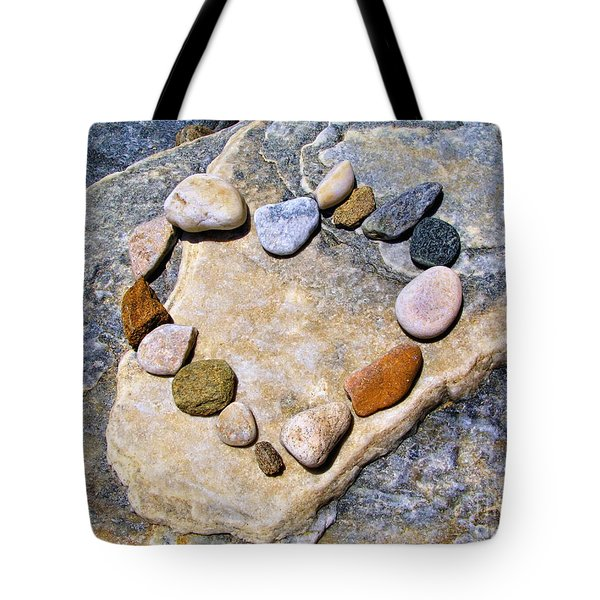 Heart And Stones  Tote Bag
