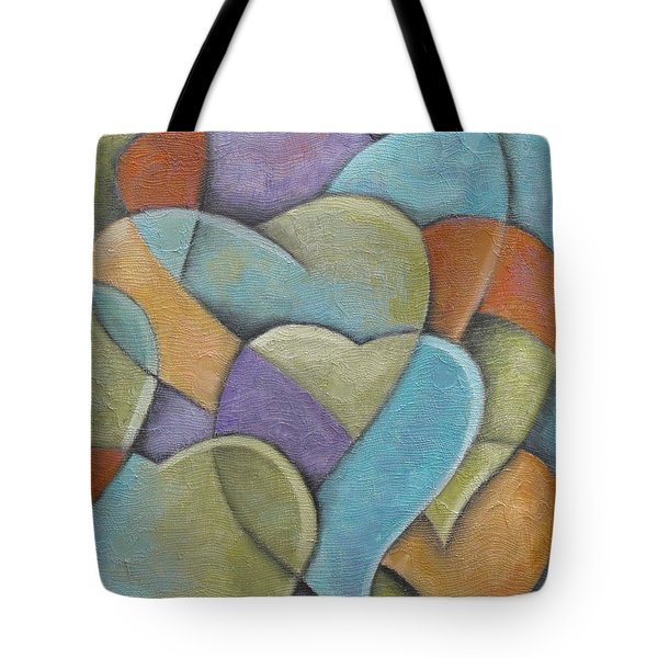 Heart Beats Tote Bag by Trish Toro