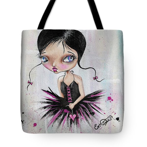Heart Break Ballet Tote Bag by Lizzy Love of Oddball Art Co