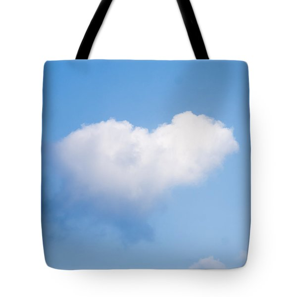 Heart Cloud Tote Bag by Shirley Tinkham