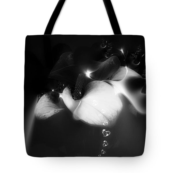 Tote Bag featuring the mixed media Heart Drops by Gabriella Weninger - David