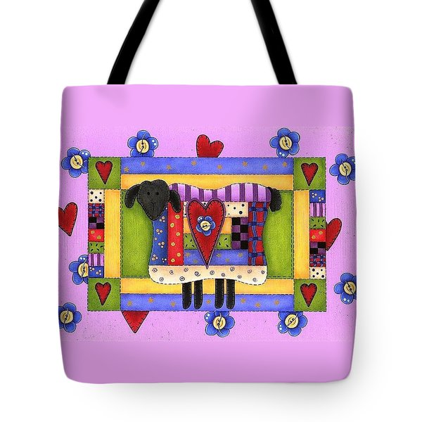 Heart For Ewe Tote Bag by Tracy Campbell
