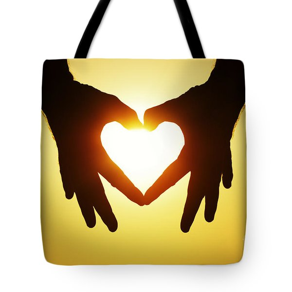 Heart Hands Tote Bag