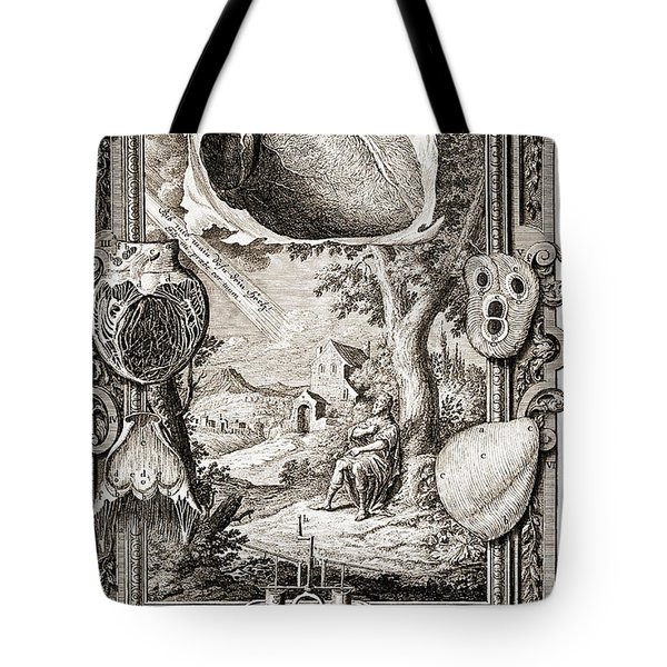 Heart Illustrated As Pumping Machine Tote Bag by Wellcome Images
