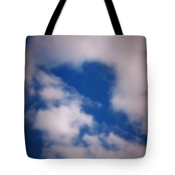 Tote Bag featuring the photograph Heart In The Clouds by Tara Potts
