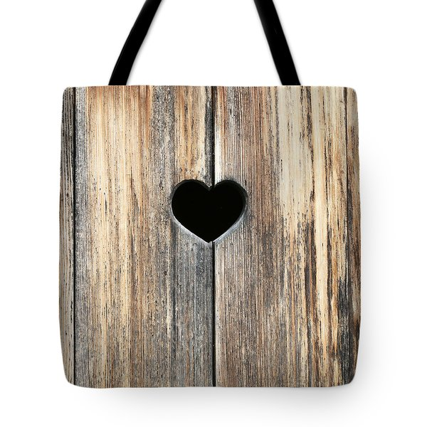 Tote Bag featuring the photograph Heart In Wood by Brooke T Ryan