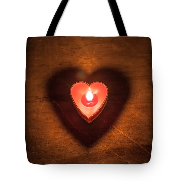 Tote Bag featuring the photograph Heart Light by Aaron Aldrich