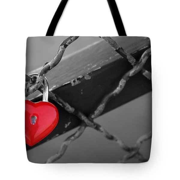 Heart Lock Tote Bag