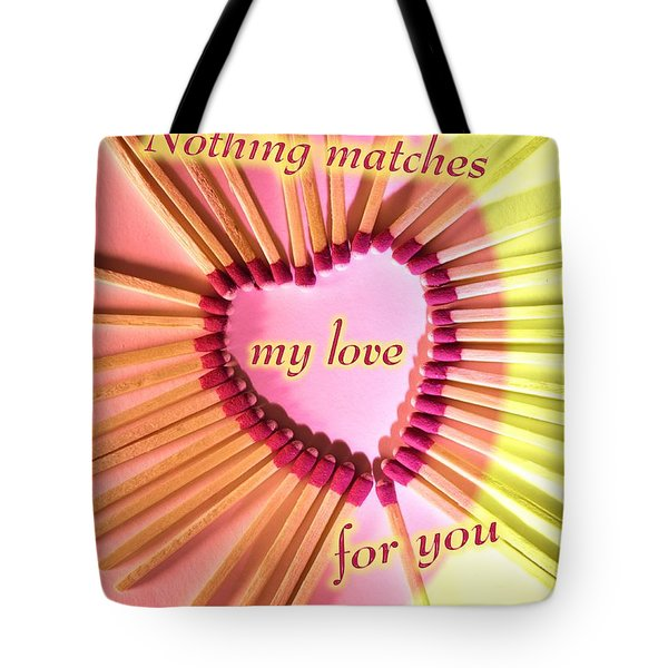 Heart Matches Tote Bag