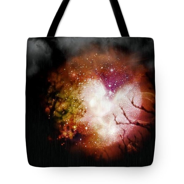 Heart Planet Tote Bag