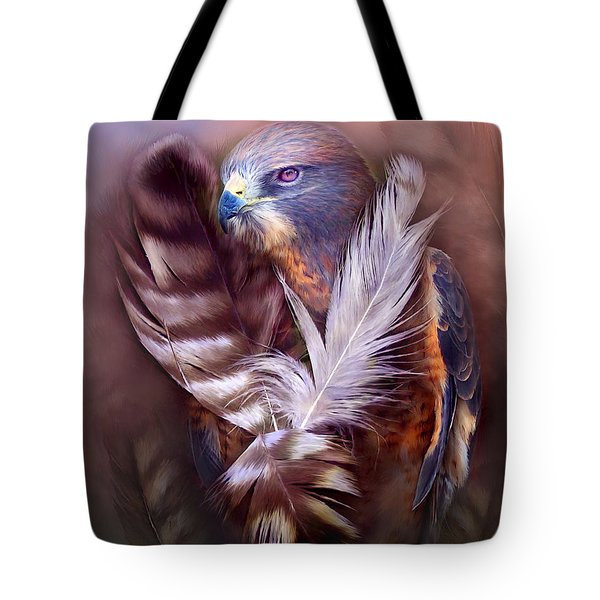 Heart Of A Hawk Tote Bag