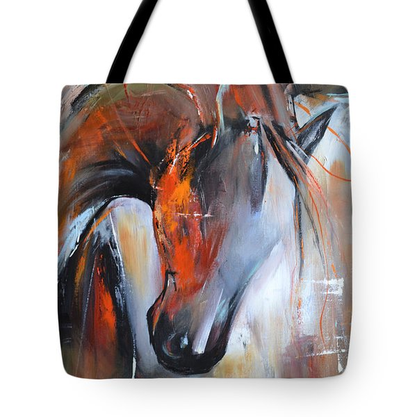 Heart Of Fire Tote Bag by Cher Devereaux