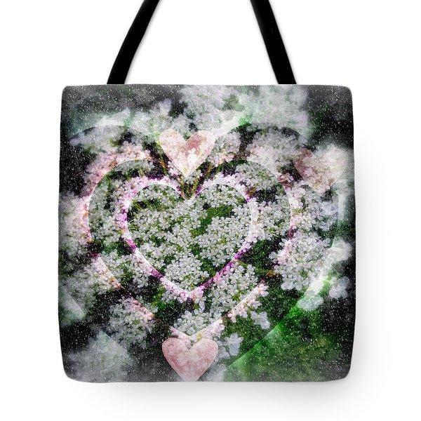 Heart Of Hearts Tote Bag by Kay Novy