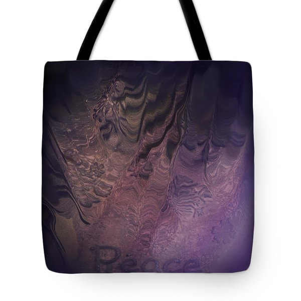 Heart Of Peace Tote Bag by Trish Tritz