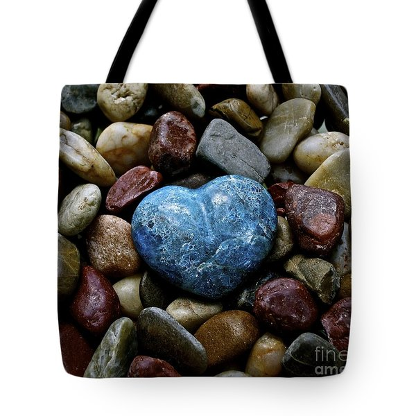 Heart Of Stone Tote Bag by Lisa  Telquist
