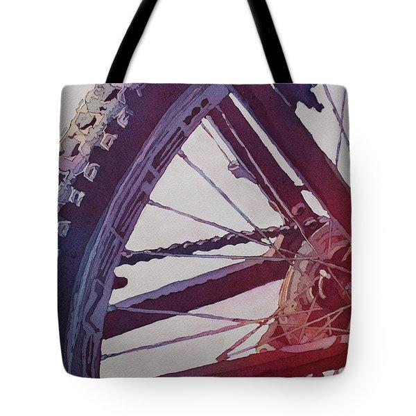 Heart Of The Bike Tote Bag