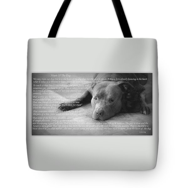 Heart Of The Dog Tote Bag