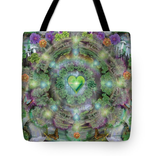 Heart Of The Forest Tote Bag by Alixandra Mullins