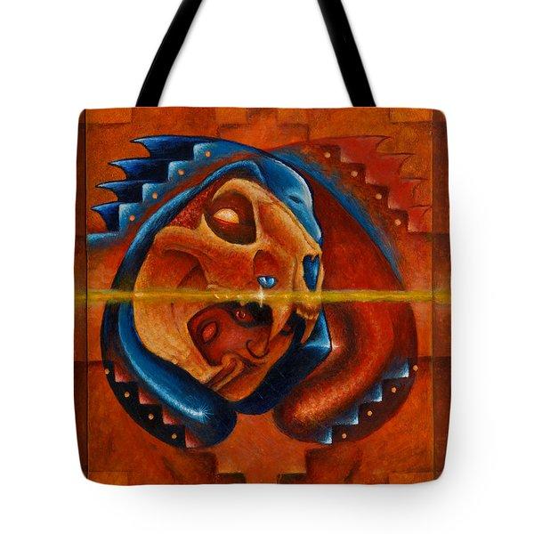 Heart Of The Jaguar Priest Tote Bag